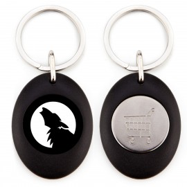 Oval Acrylic Keychain with Coin