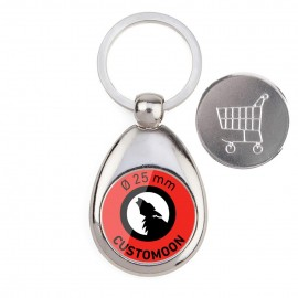 Magnetic Keychain with Coin
