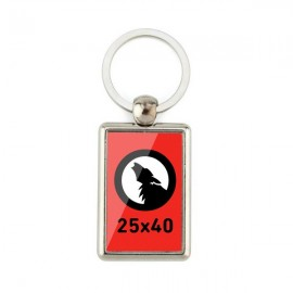 Rectangular Smooth Keychain 25 x 40 2 Sides