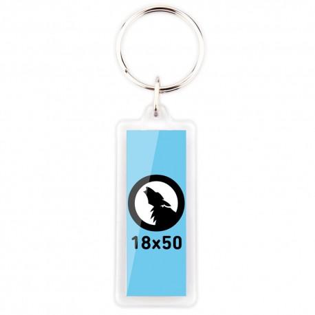 Porte-clés rectangulaire plastique 18x50