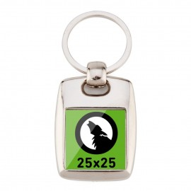 Porte-clés carré métallique 25x25 BR