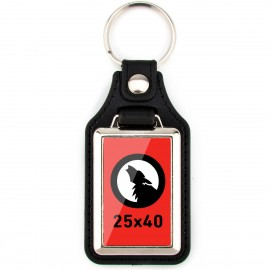 Keyring faux leather 25x40