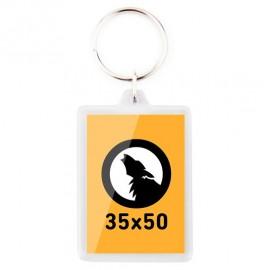 Porte-clés rectangulaire 35x50