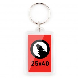 Rectangular 25x40 Keychain