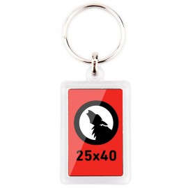 25x40 Round Edge Rectangular Keychain