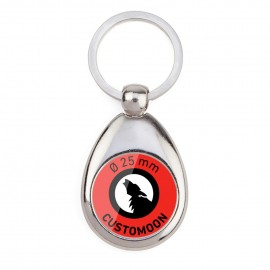 Oval Metallic Drop 25 Keychain