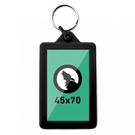 Porte-clés de silicone rectangulaire