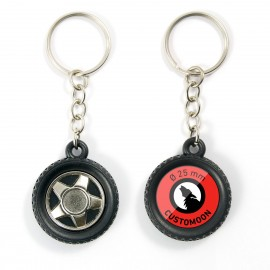 Tire Wheel Keychain