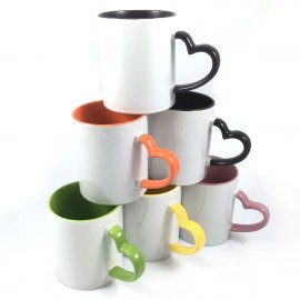 Cup Interior Color Handle Heart