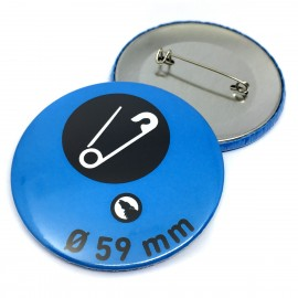 Button with needle