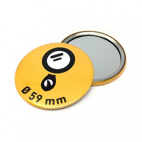 Espejo metálico redondo Ø 59 mm