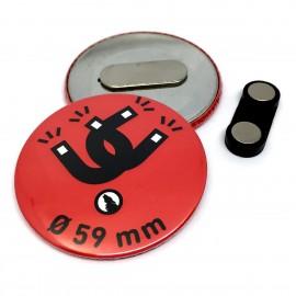 Chapa metálica con iman para ropa Ø 50 mm